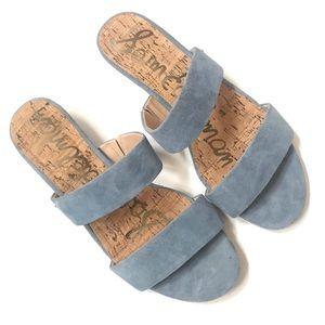 Sam Edelman Lanelle double slide suede sandals 8.5